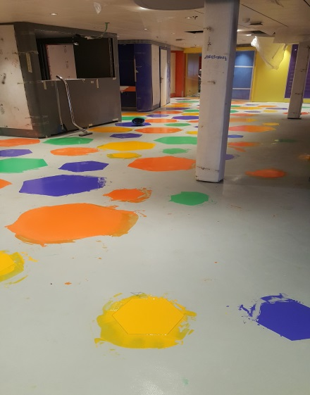 Doremi theatre MSC Seaside 1 kids area resin flooring