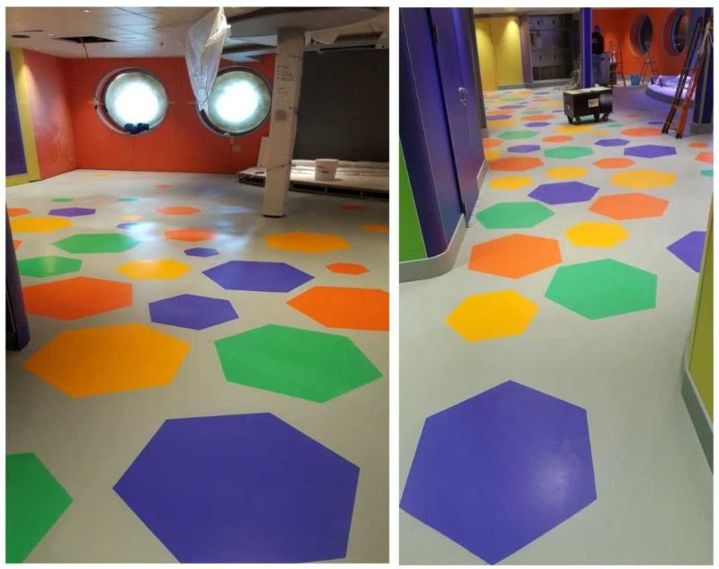 Doremi theatre MSC Seaside 2 kids area resin flooring